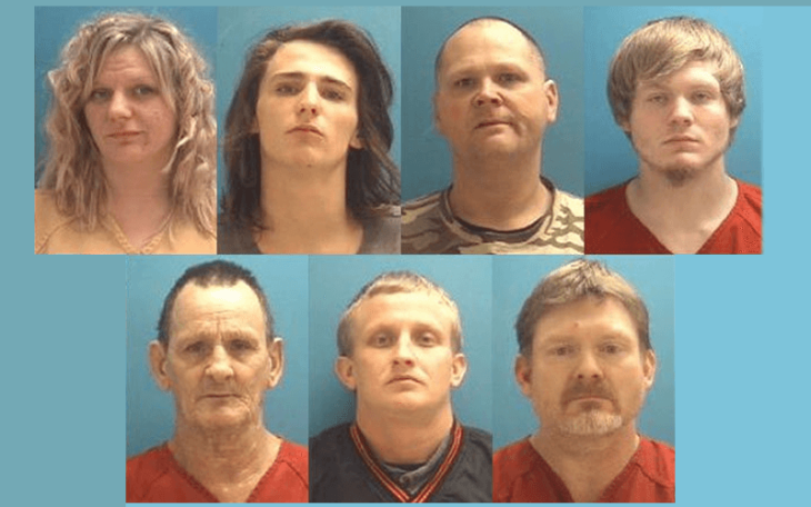 Indiana police arrest seven in massive methamphetamine bust