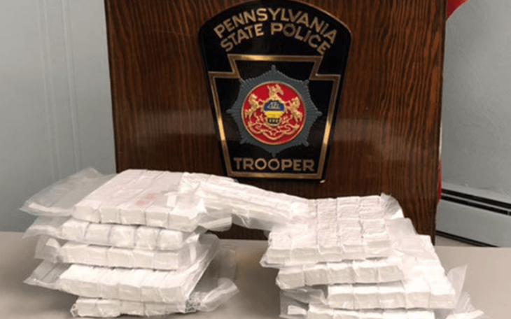 routine traffic stop in Pennsylvania leads to large drug bust