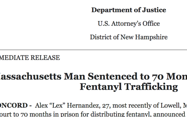 Lowell drug trafficker off the streets for 70 months for possession of 500 grams of cocaine
