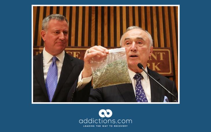 NY Mayor de Blasio tells police to stop arresting marijuana smokers